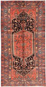 Zanjan Alfombra 150X285 Oriental Hecha A Mano Marrón/Azul Oscuro (Lana, Persia/Irán)