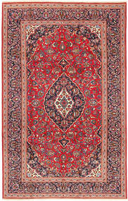 Keshan Rug 205X318 Authentic  Oriental Handknotted Rust Red/Dark Purple (Wool, Persia/Iran)