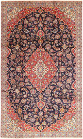 Keshan Rug 202X337 Authentic  Oriental Handknotted Dark Purple/Light Pink (Wool, Persia/Iran)