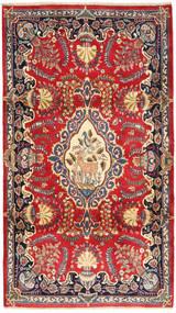Kashmar Matta 115X205 Äkta Orientalisk Handknuten Roströd/Gul (Ull, Persien/Iran)