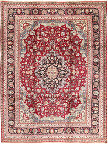 Mashad Rug 248X334 Authentic  Oriental Handknotted Beige/Dark Red (Wool, Persia/Iran)