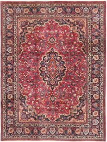 Mashad Rug 240X324 Authentic  Oriental Handknotted Dark Red/Dark Brown (Wool, Persia/Iran)