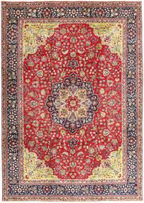 Tabriz Matto 250X345 Itämainen Käsinsolmittu Vaaleanruskea/Tummanvioletti Isot (Villa, Persia/Iran)