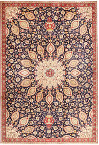 Tabriz Matta 225X325 Äkta Orientalisk Handknuten Mörklila/Beige (Ull, Persien/Iran)