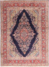 ハマダン 絨毯 265X376 オリエンタル 手織り 濃い紫/薄茶色 大きな (ウール, ペルシャ/イラン)