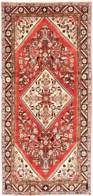 Hamadan Teppe 150X326 Ekte Orientalsk Håndknyttet Teppeløpere Lysbrun/Beige (Ull, Persia/Iran)