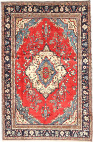 Hamadan Matta 202X302 Äkta Orientalisk Handknuten Ljusbrun/Beige (Ull, Persien/Iran)