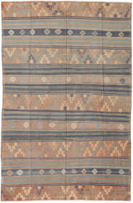 Kilim Turkish Rug 171X263 Authentic  Oriental Handwoven Light Grey/Dark Brown (Wool, Turkey)