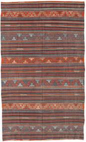 Kilim Turkish Rug 167X276 Authentic  Oriental Handwoven Dark Grey/Brown (Wool, Turkey)