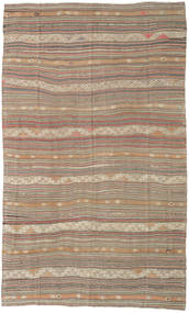 Kilim Turkish Rug 182X298 Authentic  Oriental Handwoven Light Brown/Brown (Wool, Turkey)