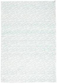 Jakart Kelim Teppich  120X179 Moderner Weiß/Creme/Hellblau ( Indien)