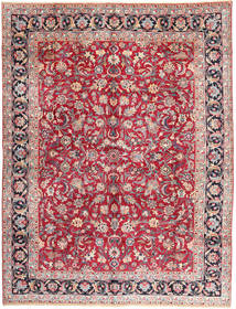 Mashad Rug 303X396 Authentic  Oriental Handknotted Crimson Red/Light Grey Large (Wool, Persia/Iran)