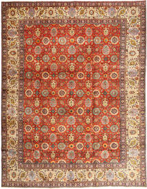 Tabriz Matta 304X385 Äkta Orientalisk Handknuten Ljusbrun/Roströd Stor (Ull, Persien/Iran)