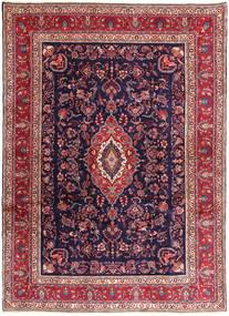 Hamadan#Shahrbaf Matta 266X377 Äkta Orientalisk Handknuten Mörklila/Brun Stor (Ull, Persien/Iran)