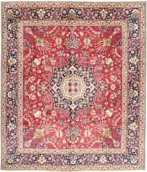 Tabriz Matta 304X360 Äkta Orientalisk Handknuten Rosa/Mörkbeige Stor (Ull, Persien/Iran)