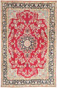 Kerman Dywan 198X310 Orientalny Tkany Ręcznie Beżowy/Rdzawy/Czerwony (Wełna, Persja/Iran)