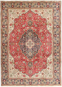 Tabriz Rug 250X347 Authentic  Oriental Handknotted Light Brown/Brown Large (Wool, Persia/Iran)