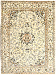 Keshan Rug 262X357 Authentic  Oriental Handknotted Beige/Dark Beige Large (Wool, Persia/Iran)