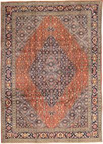 Tabriz Matta 245X347 Äkta Orientalisk Handknuten Ljusbrun/Mörkblå (Ull, Persien/Iran)