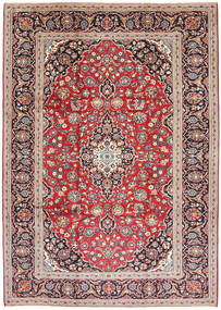 Keshan Rug 245X338 Authentic  Oriental Handknotted Brown/Dark Brown (Wool, Persia/Iran)