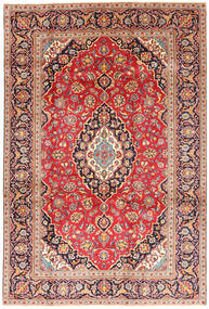 Keshan Rug 195X292 Authentic  Oriental Handknotted Beige/Rust Red (Wool, Persia/Iran)
