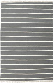 Dhurrie Stripe - Grey Rug 200X300 Authentic  Modern Handwoven Dark Grey/Beige (Wool, India)