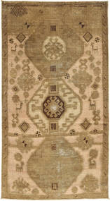 Colored Vintage Rug 110X204 Authentic  Modern Handknotted Light Brown/Dark Beige (Wool, Persia/Iran)