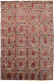 Damask Rug 205X305 Authentic  Modern Handknotted Light Brown/Brown ( India)