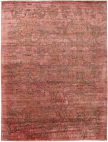 Damask Dywan 278X367 Nowoczesny Tkany Ręcznie Ciemnoczerwony/Jasnobrązowy Duży ( Indie)