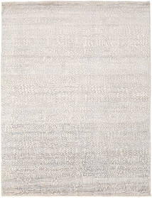Damask Rug 229X299 Authentic  Modern Handknotted Light Grey/White/Creme ( India)