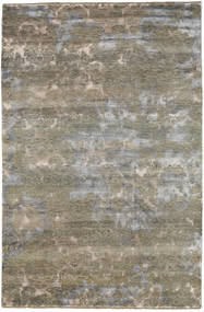 Damask Rug 195X297 Authentic  Modern Handknotted Light Brown/Light Grey ( India)
