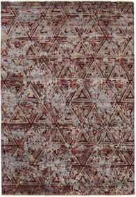 Damask Szőnyeg 206X299 Modern Csomózású Világosbarna/Sötétbarna ( India)