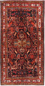 Nahavand Rug 152X292 Authentic Oriental Handknotted Dark Red/Black (Wool, Persia/Iran)