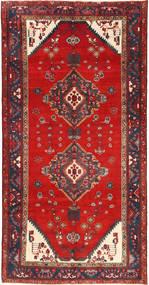Koliai Matta 150X289 Äkta Orientalisk Handknuten Roströd/Mörkgrå (Ull, Persien/Iran)