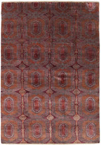 Damask Rug 169X242 Authentic  Modern Handknotted Brown/Dark Brown ( India)