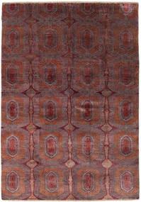 Damask Matta 169X242 Äkta Modern Handknuten Brun/Mörkbrun ( Indien)