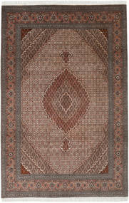Tabriz 40 Raj Rug 198X300 Authentic  Oriental Handknotted Light Brown/Dark Brown (Wool/Silk, Persia/Iran)