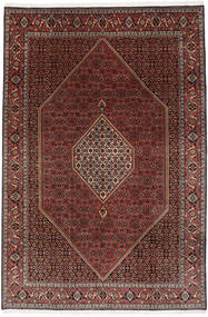 Bidjar Teppich  202X298 Echter Orientalischer Handgeknüpfter Dunkelrot/Dunkelbraun (Wolle, Persien/Iran)