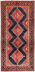 Koliai Rug 151X310 Authentic  Oriental Handknotted Hallway Runner  Dark Purple/Dark Red (Wool, Persia/Iran)