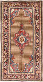 Koliai Vloerkleed 155X305 Echt Oosters Handgeknoopt Tapijtloper Donkerrood/Donkergrijs (Wol, Perzië/Iran)