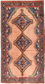 Koliai Rug 150X291 Authentic  Oriental Handknotted Hallway Runner  Light Brown/Purple (Wool, Persia/Iran)