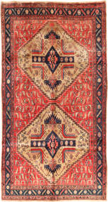 Koliai Rug 157X310 Authentic  Oriental Handknotted Hallway Runner  Dark Red/Dark Brown (Wool, Persia/Iran)