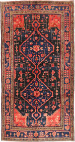 Koliai Rug 160X304 Authentic  Oriental Handknotted Hallway Runner  Dark Red/Black (Wool, Persia/Iran)