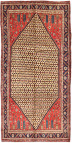 Koliai Teppe 157X323 Ekte Orientalsk Håndknyttet Teppeløpere Brun/Lysbrun (Ull, Persia/Iran)