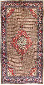 Koliai Rug 157X304 Authentic  Oriental Handknotted Hallway Runner  Light Brown/Brown (Wool, Persia/Iran)