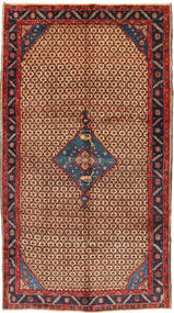 Koliai Rug 156X284 Authentic  Oriental Handknotted Hallway Runner  Dark Red/Dark Blue (Wool, Persia/Iran)