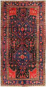 Koliai Rug 156X293 Authentic  Oriental Handknotted Hallway Runner  Dark Purple/Rust Red (Wool, Persia/Iran)