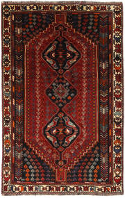 Qashqai Rug 160X251 Authentic  Oriental Handknotted Dark Red/Light Brown (Wool, Persia/Iran)