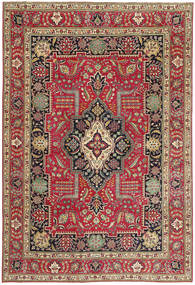Tabriz Patina Rug 235X342 Authentic  Oriental Handknotted Brown/Crimson Red (Wool, Persia/Iran)
