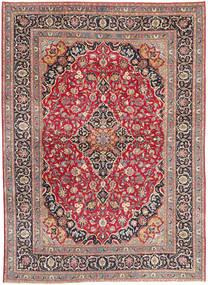 Mashad Patina Matta 247X330 Äkta Orientalisk Handknuten Mörkröd/Beige (Ull, Persien/Iran)